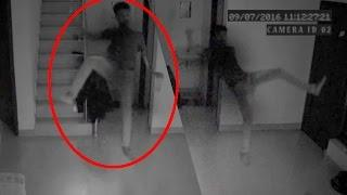 OMG Spine Chilling Ghost Attack Video Caught On CCTV Camera | Scary videos | RealGhost Attack