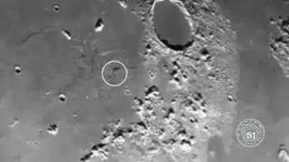 increibles ovnis en la luna-  ufo in the moon