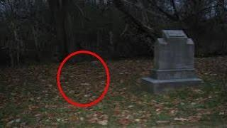 Extreme Paranormal Activity Caught On Tape At Haunted Cemetery - Beware It's There
