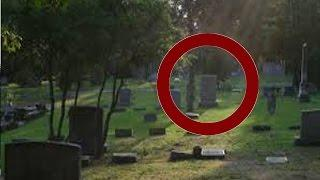 Creepy Real Ghost Shows Itself On Video At Dark Haunted Cemetery - Real Paranormal Activity