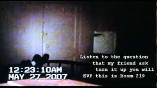 EVP Caught on Camcorder In the Haunted Historical  Ott Hotel Liberty TX room 212