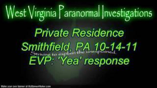 WVPI @Private Res. Smithfield, PA EVP 'Yea' response