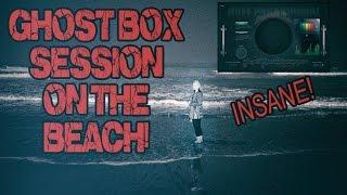 Ghost Box Session ON THE BEACH! AMAZING spirit replies! Impossible Box and EVP!