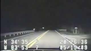 Bigfoot crossing road - Georgia sheriff's dash cam