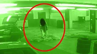 Ghost Caught On  CCTV  Camera In Car Workshop!! Paranormal Activity