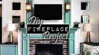 DIY Fireplace Project   Junkin' With Jenny