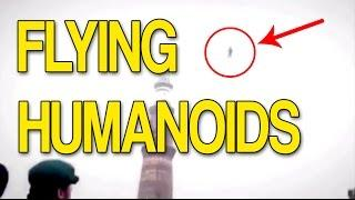 Flying Humanoids Caught on Tape - Real Video Evidence!